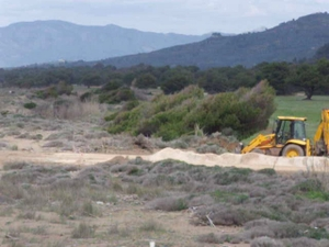 Bulldozer destroys sand dunes in southern Kyparissia Bay