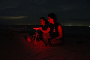 Measuring light pollution on a sea turtle nesting beach