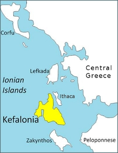 map of kefalonia