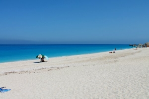 The beach of Megali Petra, Lefkada