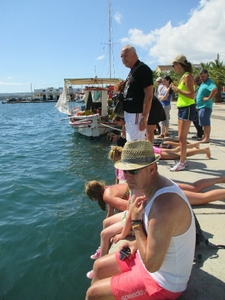 Tourists at the Argostoli Harbour